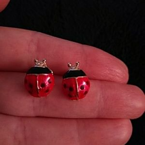NEW - Earrings - Ladybugs